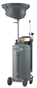 KraftWell KRW1832.80 Установка для слива и откачки масла/антифриза с круглой подъемной ванной, мобильная