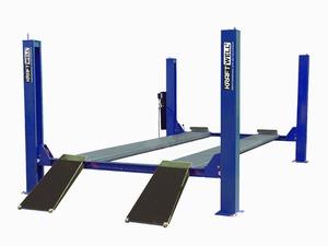 KraftWell KRW5.5_blue Подъемник четырехстоечный г/п 5500 кг. платформы гладкие