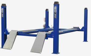 KraftWell KRW6.5WA_blue Подъемник четырехстоечный г/п 6500 кг. платформы для сход-развала