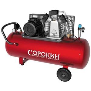 Воздушный компрессор СОРОКИН Компрессор поршневой 10атм, 3,0кВт, 380В, 580л/мин, горизонтальный ресивер 200л