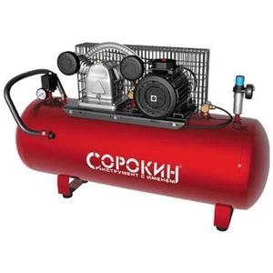 Воздушный компрессор СОРОКИН Компрессор поршневой 10атм, 4,0кВт, 380В, 690л/мин, горизонтальный ресивер 270л