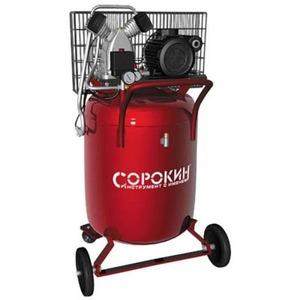 Воздушный компрессор СОРОКИН Компрессор поршневой 10атм, 2,2кВт, 220В, 420л/мин, вертикальный ресивер 100л