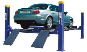 KraftWell KRW4WA_blue Подъемник четырехстоечный г/п 4000 кг. платформы для сход-развала