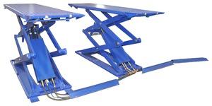 Подъемник ножничный короткий KraftWell KRW3FS/220_blue