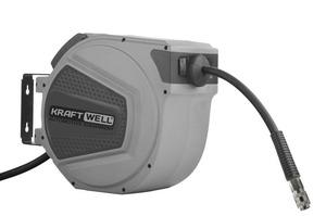 Катушка для раздачи воздуха/воды, закрытая пластиковая KraftWell KRW1731.C4