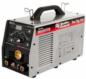 Аппарат арг.-дуговой сварки, инвертор Quattro Elementi ProTIG 210 (200A, электроды до 5,0 мм, 220В), арт. 771-633