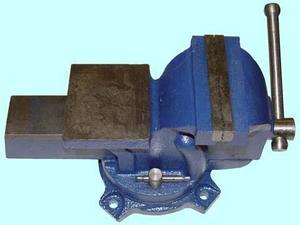 """Тиски Слесарные 100 мм (4"""") стальные поворотные усиленные с наковальней (LT89004) """"CNIC"""" (упакованы по 4шт.)"""