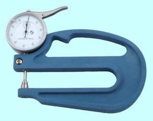 """Толщиномер индикаторный стрелочный (0-10мм), цена дел. 0,01мм, L120мм """"CNIC"""" (580-102)"""