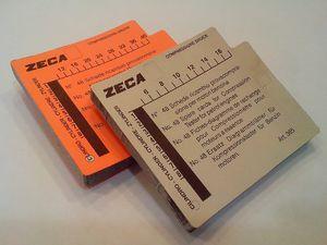 Zeca 366 Комплект сменных карточек, 50 шт.