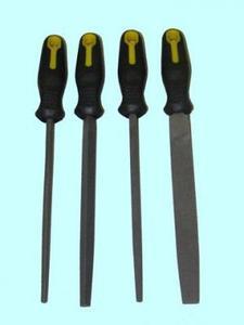 """Набор напильников из 4шт. 200мм №2 с обрезиненной ручкой (B9) """"CNIC"""""""