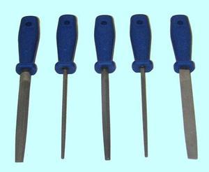 """Набор напильников из 5шт. 200мм №2 с пластмассовой ручкой (A14) """"CNIC"""""""