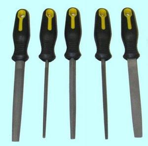 """Набор напильников из 5шт. 200мм №2 с обрезиненной ручкой (B9) """"CNIC"""""""