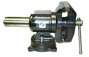 """Тиски Слесарные 125 мм (5"""") поворотные в двух плоскостях  с наковальней облегченные (LTD0005L) """"CNIC""""(упакованы по 1шт)"""