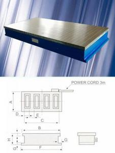 "Плита магнитная плоская Х91 400х 800 (электромаг-ная) сила притяжения 160 N/см кв. ""CNIC"" (66120-10)"