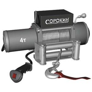 Автомобильная лебедка СОРОКИН Электролебёдка 4т на автомобиль