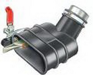 Aerservice BGIM1000075150 Насадка газоприёмная 75 мм. с клещами для одиночных и двойных труб глушителя