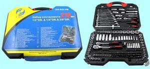 "Набор ""CNIC""218 предметов GW-B5218M (торцевые головки 1/4""-1/2""-3/8"", ключи, вставки) CrV в кейсе (упакованы по 2шт.)"