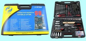 """Набор """"CNIC"""" 99 предметов JJ-BT99B (торцевые головки 1/4- 1/2"""", ключи, отвертки, вставки) CrV в кейсе(упакованы по 3шт.)"""