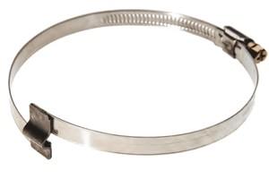Хомут червячный со скобой  под армирующую спираль D=87-112 мм