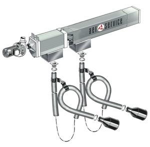 Aerservice KITCA222100120 Рельсовая система вытяжки 12 м. с 2-мя каретками 100 мм.