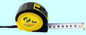 """Рулетка   5 метров х 19мм с фиксатором обрезиненная """"CNIC"""" CR-82 (582E)"""