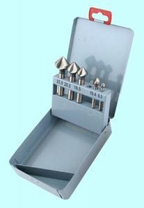 """Набор зенковок конус  90° ц/х из 5-ти штук d6.3-d25.0мм Р18 в мет. коробке """"CNIC"""""""