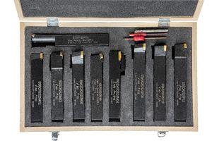 Набор из 9 резцов 25x25 мм с мех.креплением твердосплавных пластин
