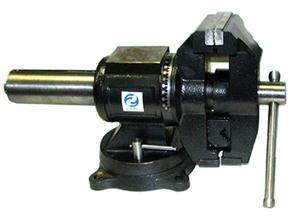 """Тиски Слесарные 125 мм (5"""") поворотные в двух плоскостях  с наковальней усиленные (LTD0005H) """"CNIC""""(упакованы по 1шт)"""