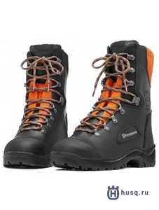 Ботинки кожаные с защитой от пореза бензопилой  Husqvarna Classic 43