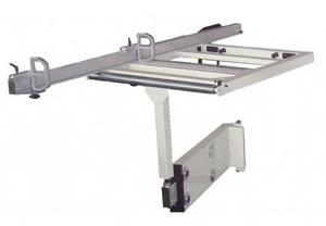 Разгрузочный стол 850х650 мм с телескопическим кронштейном и направляющая для распила под углом