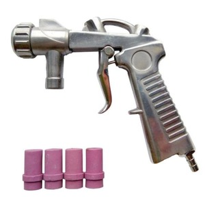 СОРОКИН Пистолет для пескоструйных камер с комплектом форсунок 10.5, 10.8, диаметр 4,5,6,7мм
