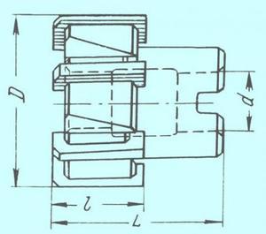 Развертка d 75,0х35х65х27 A3 насадная Р6М5 со вставными ножами Z=8