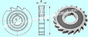Фреза дисковая пазовая   80х12х27 Р6М5, Z =14 затылованная