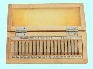 Наборы концевых мер длины №16, кл.точн.1  (19 мер от 0,991 до 1,009мм) тв.сплав (КРИН)