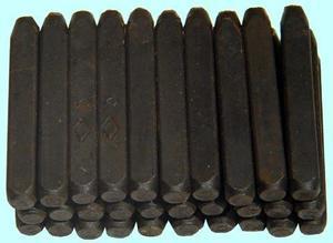 Клейма Буквенные № 5 сталь (30шт) (7858-0124)