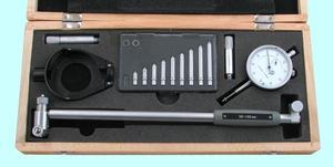 """Нутромер Индикаторный  50-160мм, глуб.изм. 200мм (0,01), 10 вставок """"CNIC"""" (570-125) с защитой"""