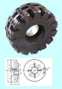 Фреза Торцевая насадная 200х64,5х50 с кассетным креплением круглых пластин (компзит К05 ИТ), Z=18  (+к-т пластин 90шт)