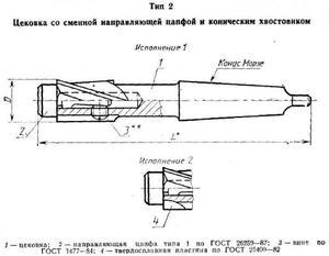 Цековка D 29,0 х d22,0х180  к/х со сменной направляющей цапфой КМ3
