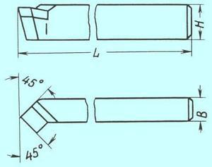 Резец Проходной отогнутый 20х12х130 ВК8 (РК8)