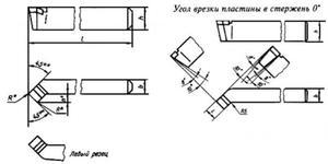 Резец Проходной отогнутый 20х12х120  тв. сплав левый (без маркировки)