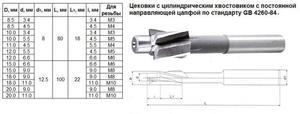"Цековка D 11,0 х d 4,5 х 80 ц/х Р6АМ5 с постоянной направляющей цапфой, dхв 8мм ""CNIC"""