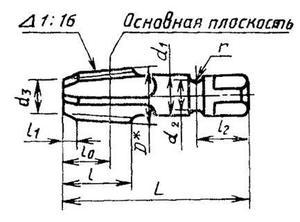 """Метчик К 1 1/4""""(NPT) Р18 конический дюймовый, м/р. (11.5 ниток/дюйм) для глух. отв."""