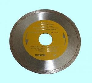 Диск отрезной алмазный Для влажной резки 115х1,6х5х22,2мм с непрерывной реж. кромкой по керамике (DS115FPE) BOSCH