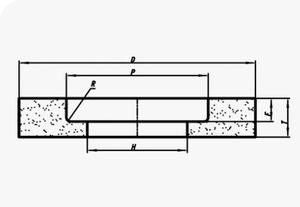 Круг ПВ  300х 50х127 25А 25 СМ1  (WA F60 K) (ВАЗ) с выточкой