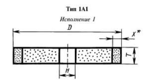 Эльборовый круг 1А1-1(плоский прямого профиля) 150х10х32х3  ЛКВ40 100/80 100% В2-01 61,0 карат
