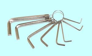 """Набор ключей Шестигранных из  8шт (2;2,5;3;4;5;6;8;10мм) на кольце CrV никель """"CNIC"""" (2301)"""