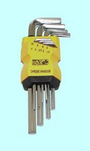 """Набор ключей Шестигранных из  9шт (1,5;2;2,5;3;4;5;6;8;10мм) на клипсе СrV никель """"CNIC"""""""