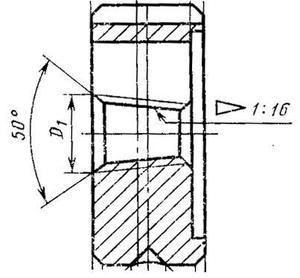 """Плашка Трубная коническая   R    1/2"""", 14 ниток/дюйм, dнар.45мм """"TLX"""""""
