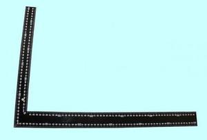 """Угольник Строительный  400х600 мм 2шкалы металлический """"TLX"""""""
