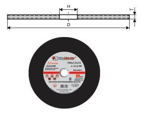Круг отрезной армированный 400х4,0х32 14А (А24 SBF 2-я сетка) по металлу (Луга)